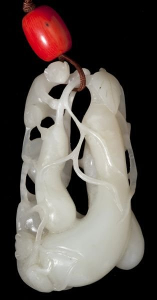 An Exceptional Chinese Mutton Fat Jade Carving