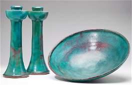 Ben Owen III Three Pieces, NC Pottery