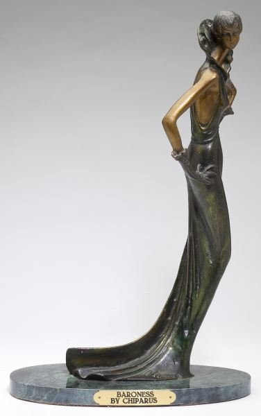 """Baroness"" Art Deco Style Bronze after Chiparus"