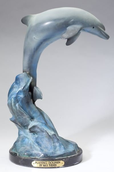 "Max Turner ""Playing Dolphin"" Cold Painted Bronze"