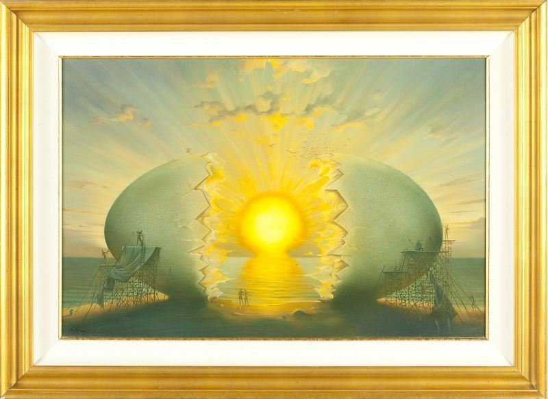 "Vladimir Kush (b. 1965), ""Sunrise by the Ocean"""