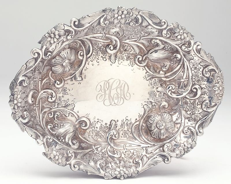 Victorian Silver Serving Bowl