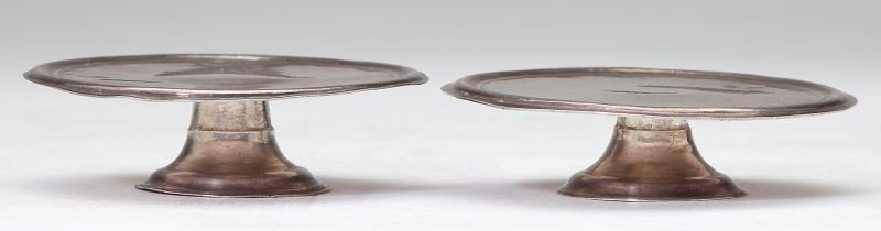 Pair of George I Toy Silver Footed Tazzas
