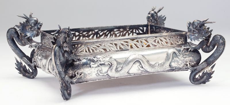 Chinese Export Silver Jardiniere