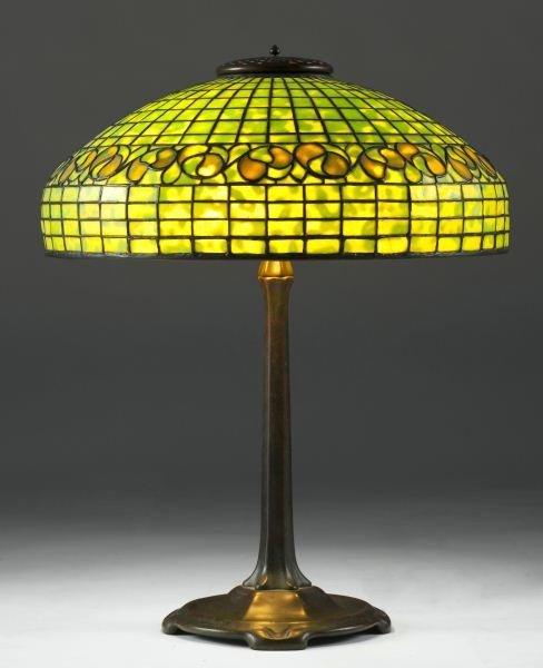 Tiffany Studios Lemon Leaf Table Lamp