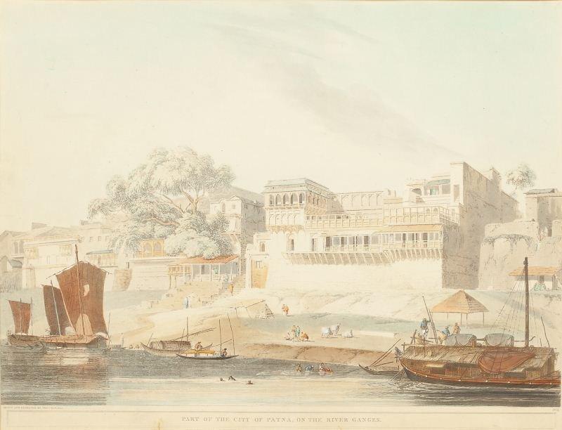 Thomas Daniell Engraving of Patna, India
