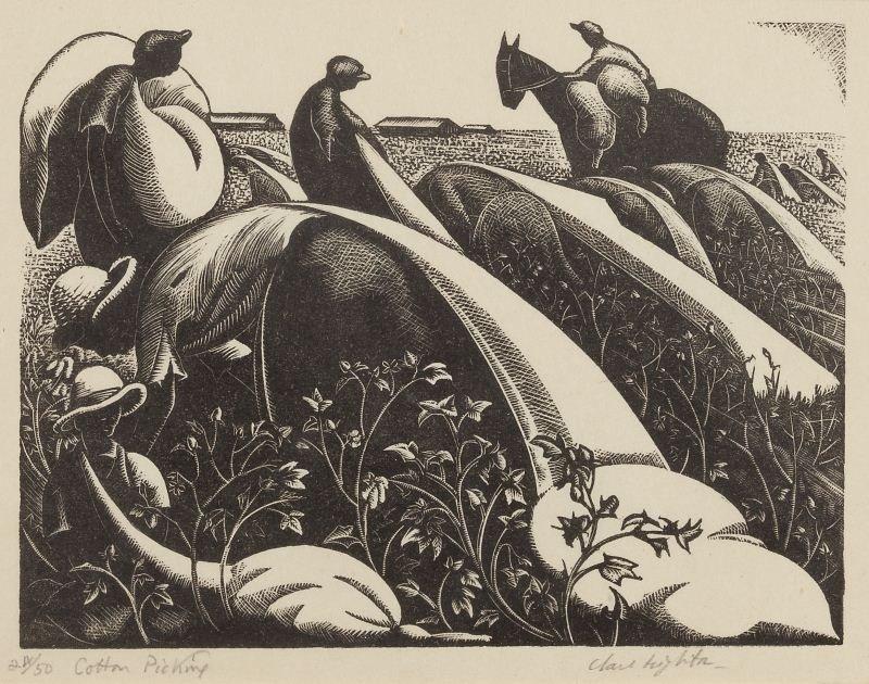 """Clare Leighton (1898-1989), """"Cotton Picking"""""""
