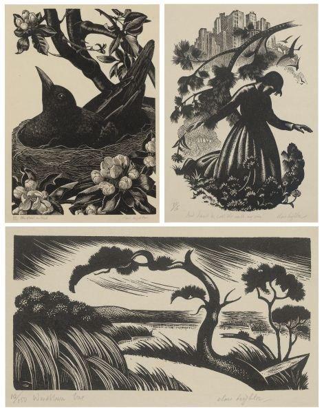 Clare Leighton (1898-1989), Three Wood Engravings