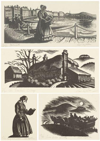 Clare Leighton (1898-1989), Four Wood Engravings