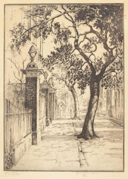Elizabeth O'Neill Verner (SC, 1883-1979), Etching