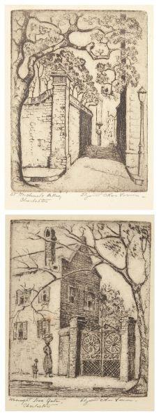 Elizabeth O'Neill Verner (SC, 1883-1979), Etchings
