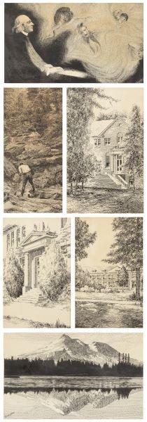 Claude Pritchard (NC, fl.1920-1950), Six Drawings