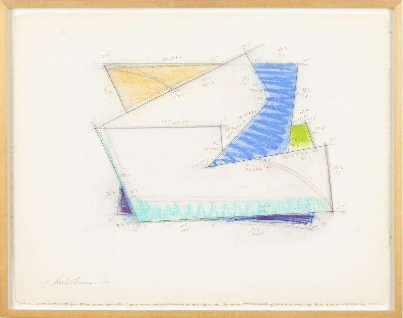 Charles Hinman (NY, b. 1932), Study for Overlap