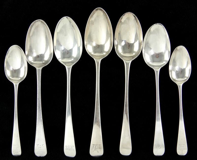 Seven Silver Spoons by Hester Bateman