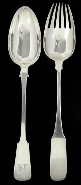 Two Georgian Silver Serving Spoons