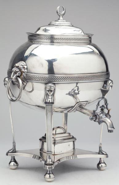 Very Fine Exotic Motif Regency Sheffield Plate Urn