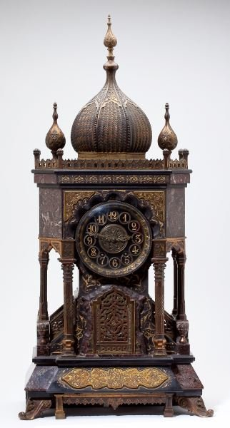 Rare Moorish Revival Mantel Clock, Tiffany & Co.