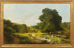 Charles Simms Br fl 1845 The Noon Hour