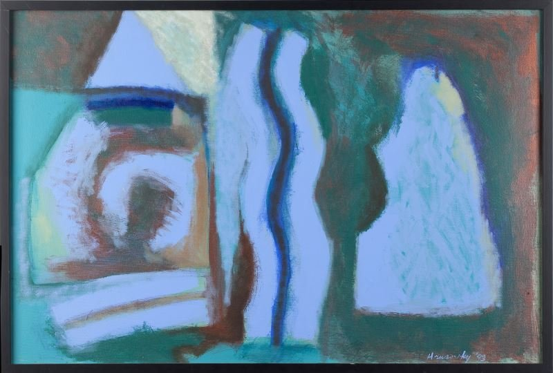 Paul Hrusovsky (NC), Untitled - Blue Abstract
