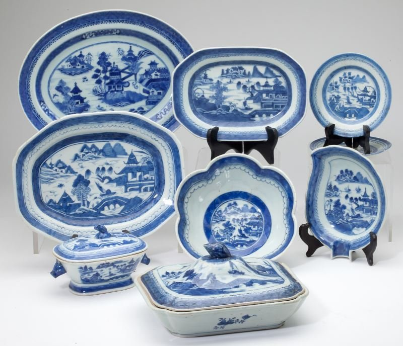 Nine Pieces of Canton Export China