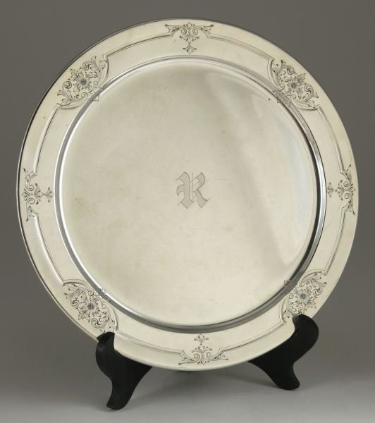 American Sterling Silver Chop Plate