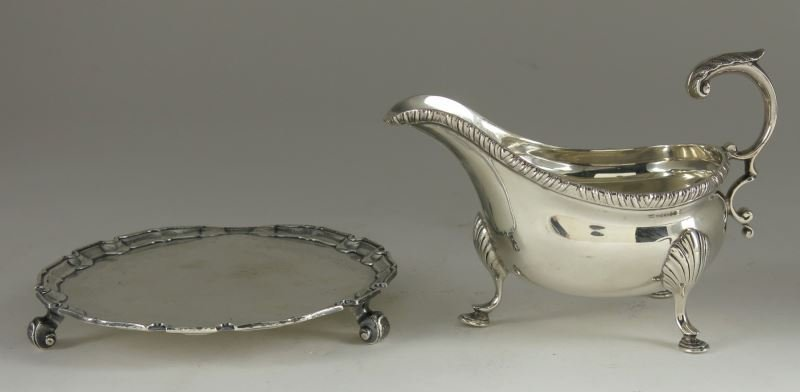Two Georgian Style Silver Table Articles