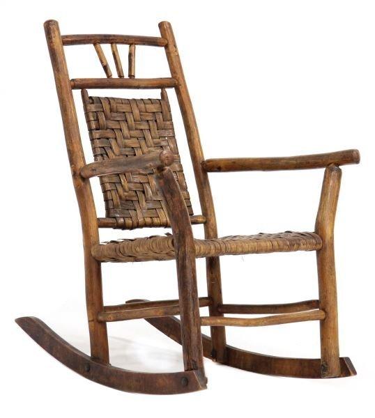 NC Child's Twig Art Rocking Chair