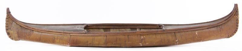 Pacific Northwest Birch Bark Model Canoe