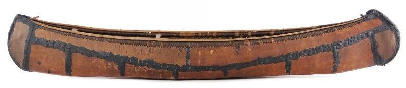 Antique Birch Bark Canoe Model