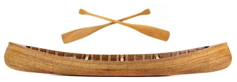 Mahogany Strip Wood Model Canoe