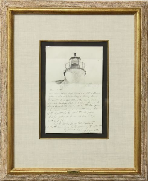 The Bob Timberlake Collection. Andrew Wyeth (1917 2009), Letter With Drawing Part 45