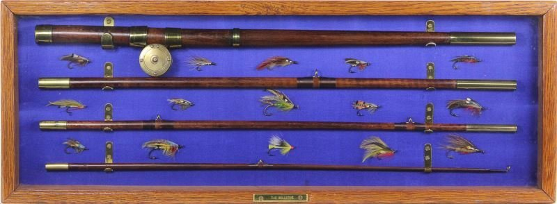 Antique Fly Fishing Rod and Reel Display