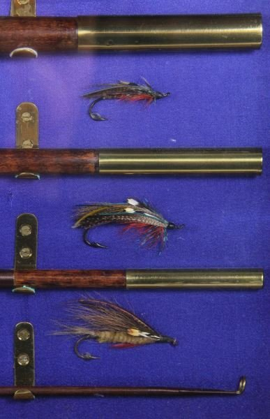 Antique Fly Fishing Rod and Reel Display - 3