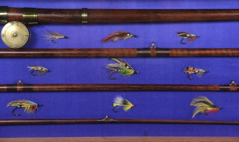 Antique Fly Fishing Rod and Reel Display - 4