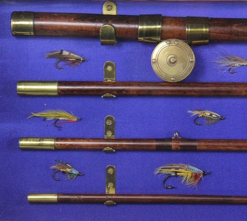 Antique Fly Fishing Rod and Reel Display - 5