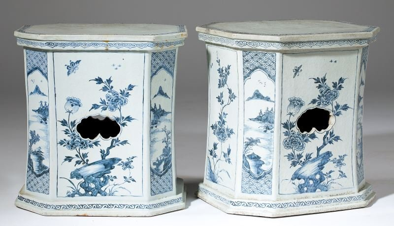 Pair of Antique Chinese Garden Seats