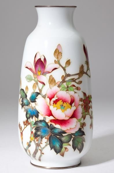 Ando Jubei Shaded Cloisonne Vase