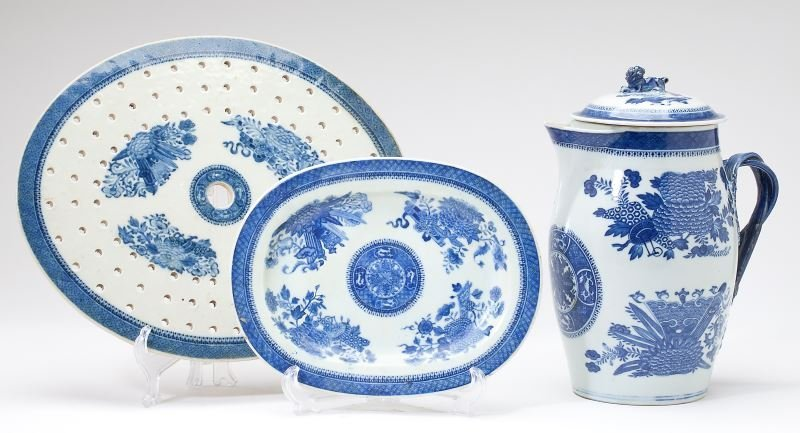 Group of Chinese Export Porcelain, Fitzhugh