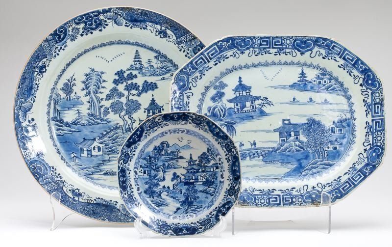 Three Pieces Chinese Export Nanking & Canton