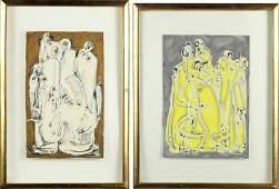 Salah Taher (Egyptian, 1911-2007), Two Works