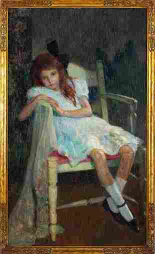 Hovsep Pushman (NY/CA, 1877-1966), Girl in White