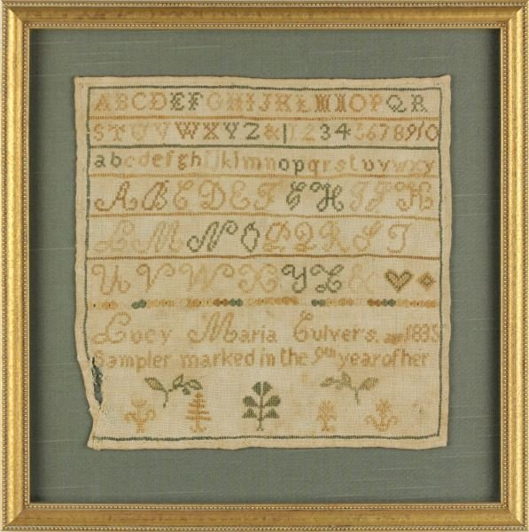 American School, Alphabet and Numeral Sampler