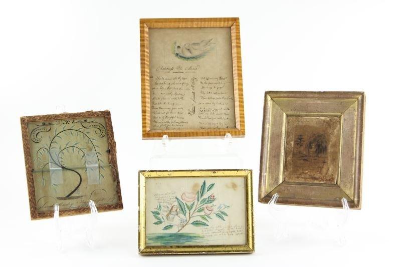 Four Antique Framed Documents