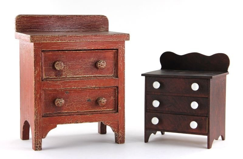 Two American Miniature Chests of Drawers