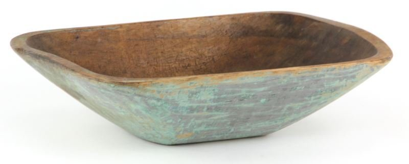 New England Painted Wooden Dough Bowl