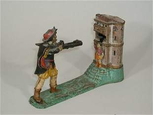 William Tell 1886 Cast Iron Bank,