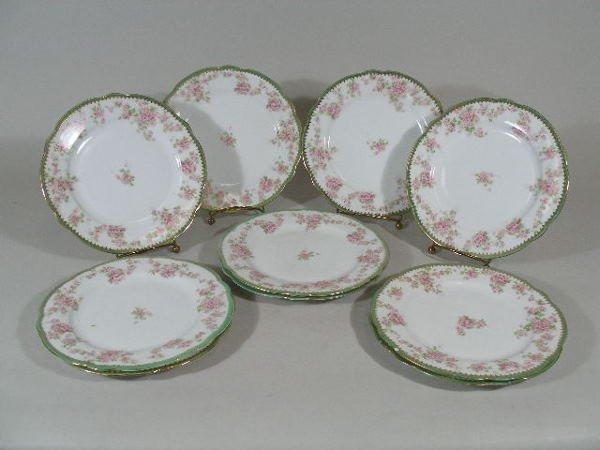 3002: Ten Dessert Plates, Imperial Crown Austria,