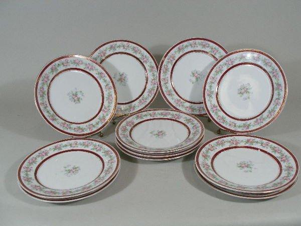 3003: Set of Eleven Salad Plates, Imperial Crown Austri