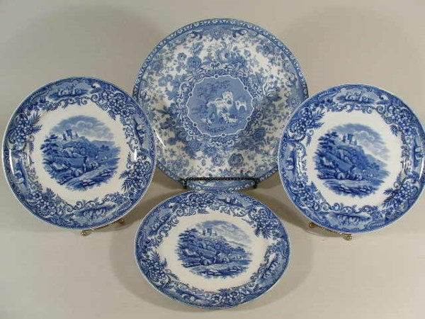 3005: Group of Four Blue and White Transferware China,