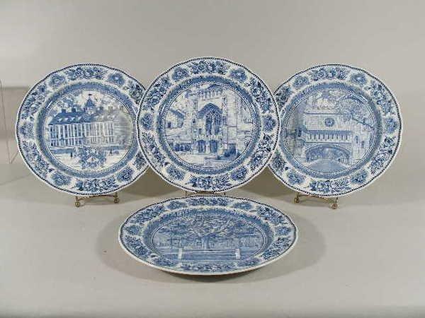 3007: Set of Four Wedgwood Yale University Plates,